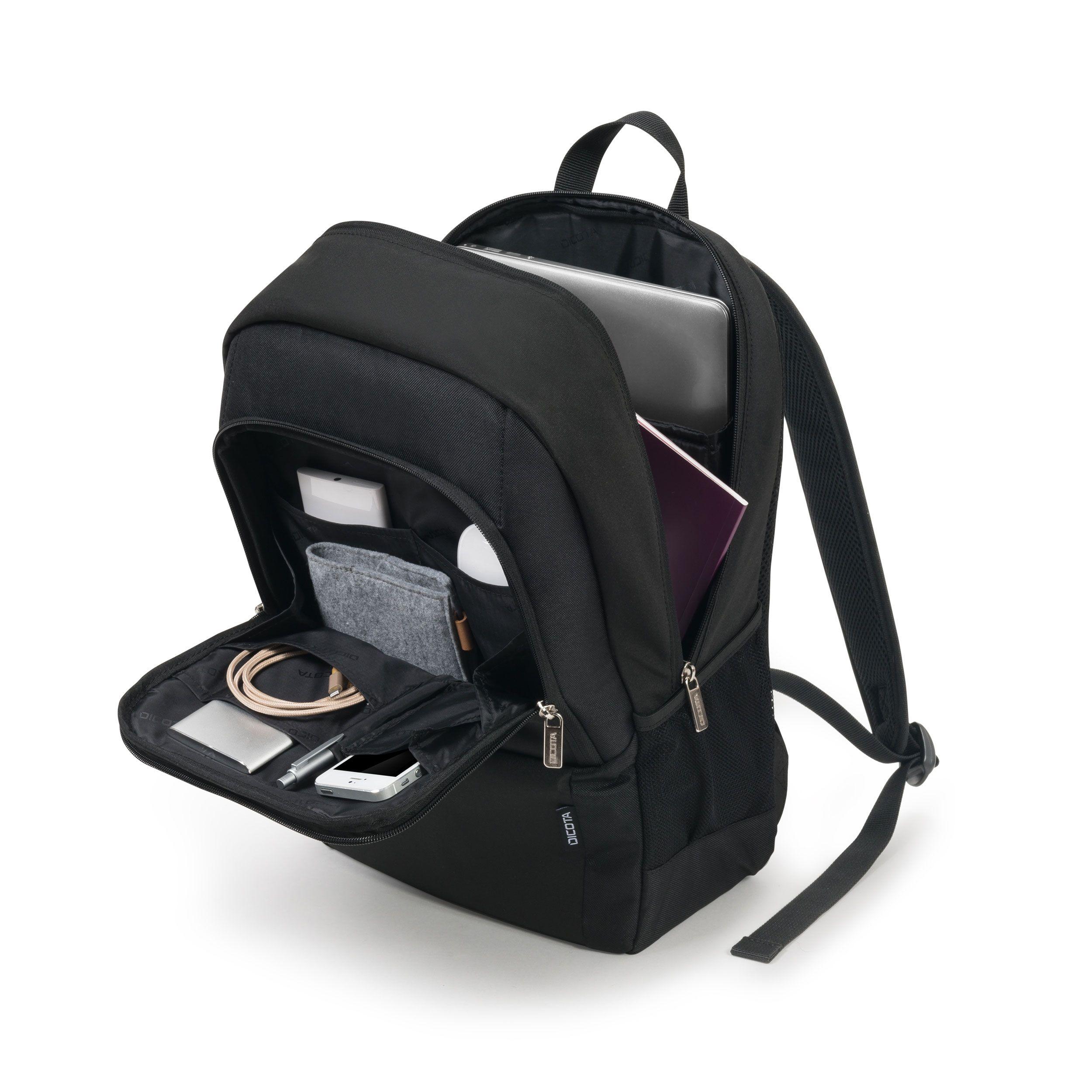نمای داخلی کوله پشتی لپ تاپ دیکوتا بیس D30913